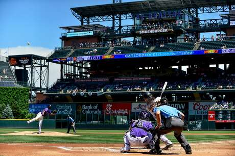 DENVER, CO - JULY 15: Brandon Crawford #35 of the San Francisco Giants hits a first inning three-run home run off of German Marquez #48 of the Colorado Rockies during game one of a doubleheader at Coors Field on July 15, 2019 in Denver, Colorado. (Photo by Dustin Bradford/Getty Images) Photo: Dustin Bradford / Getty Images