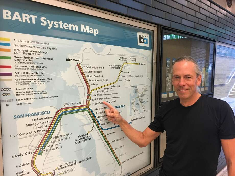 Bart Wright – yes, that's really his name – has been the designer of BART's maps for the last 20 years. He's the subject of BART's latest podcast episode. Photo: Courtesy Of BART