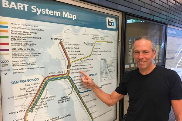 Bart Wright - yes, that's really his name - has been the designer of BART's maps for the last 20 years. He's the subject of BART's latest podcast episode.