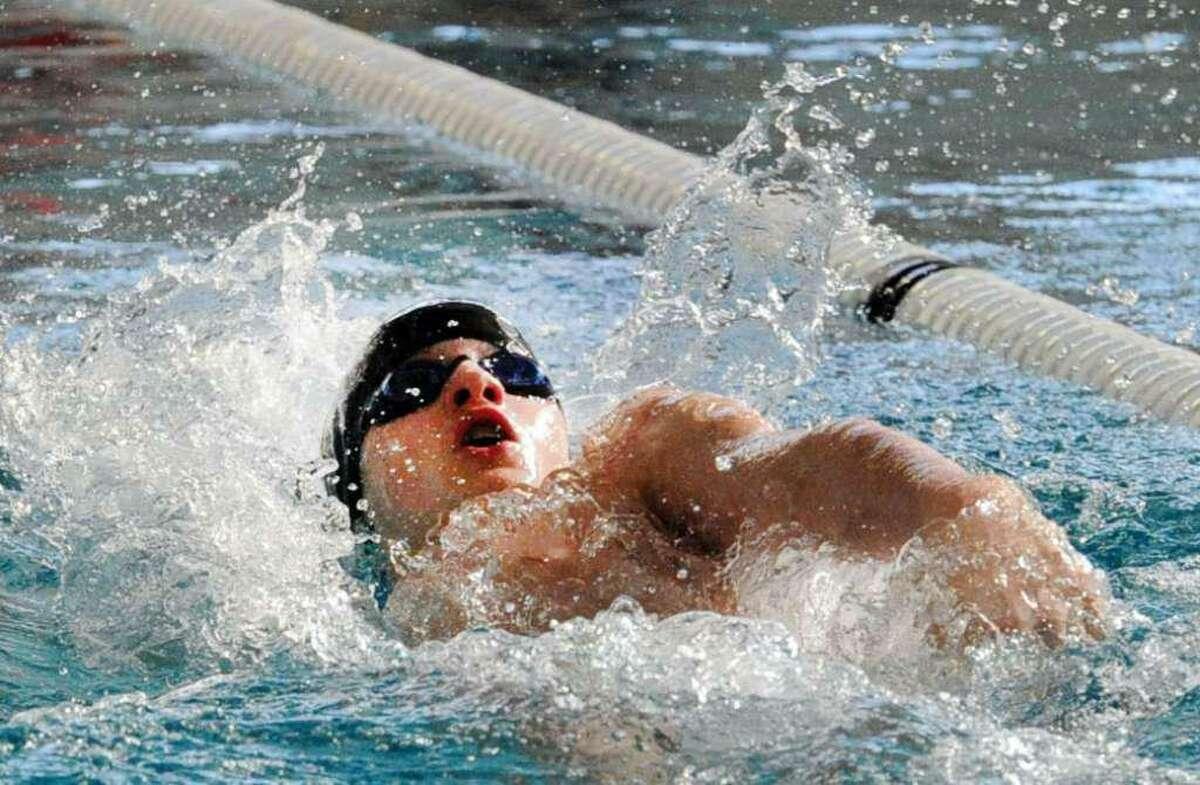 Christian Farricker, a recent Brunswick School graduate, earned 2018-2019 NISCA Boys High School all-America swimming honors.