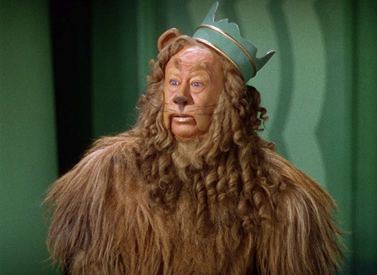 """Bert Lahr as The Cowardly Lion in """"The Wizard of Oz."""""""