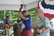The Angry O'Haras will perform a free outdoor concert Aug. 16, at 2 p.m. on the grounds of the Keeler Tavern Museum and History Center. The band is made up of Chris Anderson on the guitar, left, Mike Crezcenzo on the bass, middle, and Gerry O'Hara on the guitar, right.