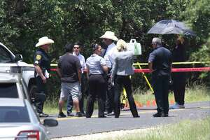 Bexar County Sheriff Department inspects the scene in the 3000 block of Running Springs where the body of a man was found, on Monday, July 15, 2019.
