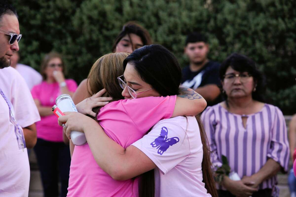 Family and friends of the late Myriam Camarillo gathered at the Sames Arena Pond on Monday, Jul 15, 2019, for a candle light vigil in remembrance of Camarillo.