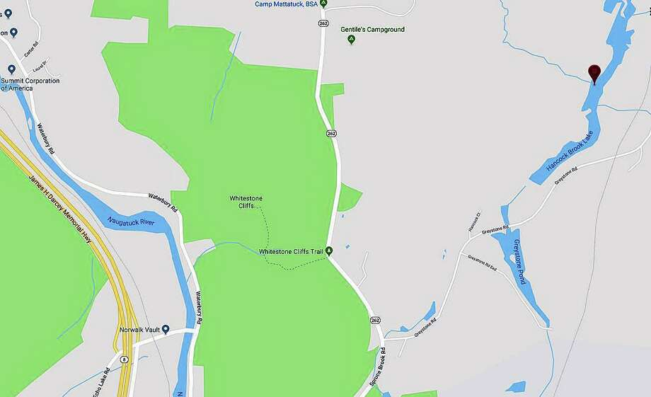 Emergency crews found the body of a man believed to be a fisherman following a search at Hancock Brook Lake Monday evening on July 15, 2019. Photo: Google Maps