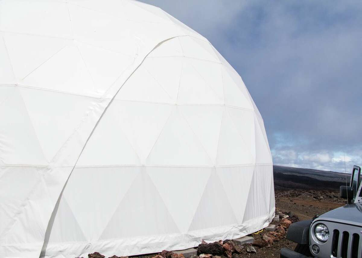 The dome has been around since 2013 and can house six astronauts at a time. It's 36 feet in diameter and has about 1,200 square feet of living space.