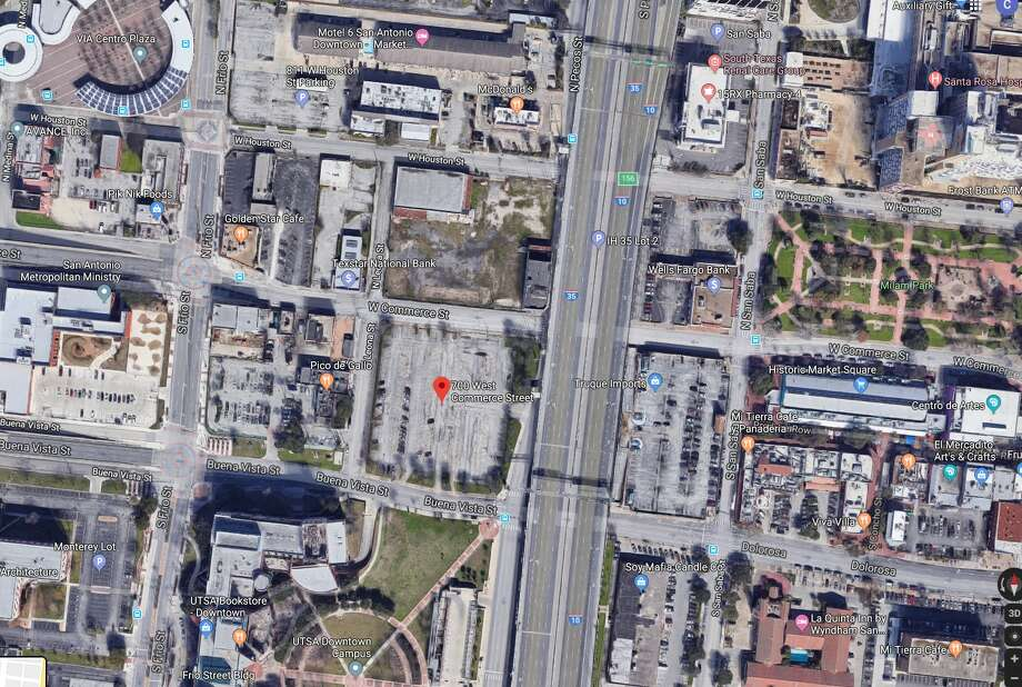 Police say a body was found on W. Commerce near UTSA Tuesday morning. Photo: Google Earth