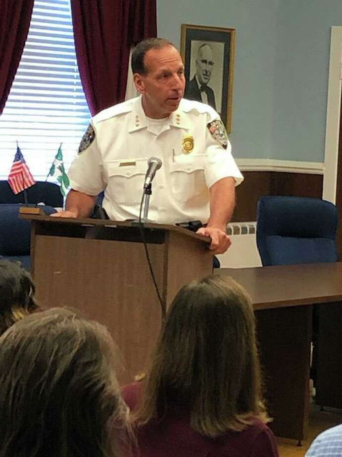 File photo of New Milford Police Chief Spencer Cerruto Photo: Contributed Photo / Contributed Photo / The News-Times Contributed