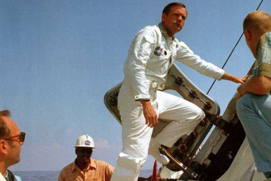 "A photograph of Neil Armstrong featured in ""Armstrong."" (Gravitas Ventures/TNS) Photo: Gravitas Ventures, HO / TNS / Gravitas Ventures"