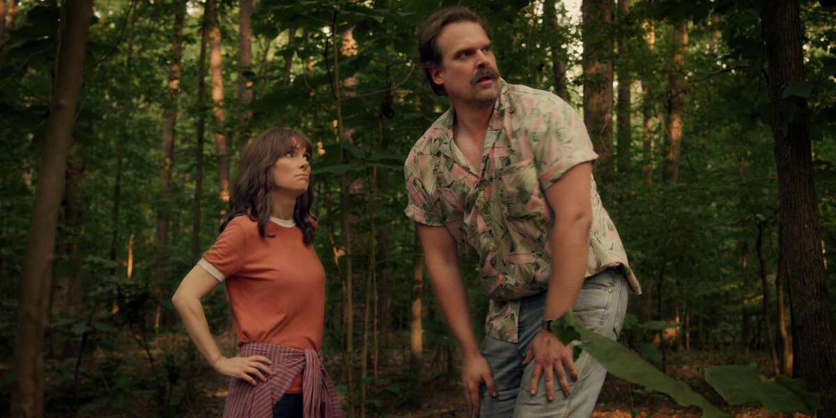 Winona Ryder and David Harbour in
