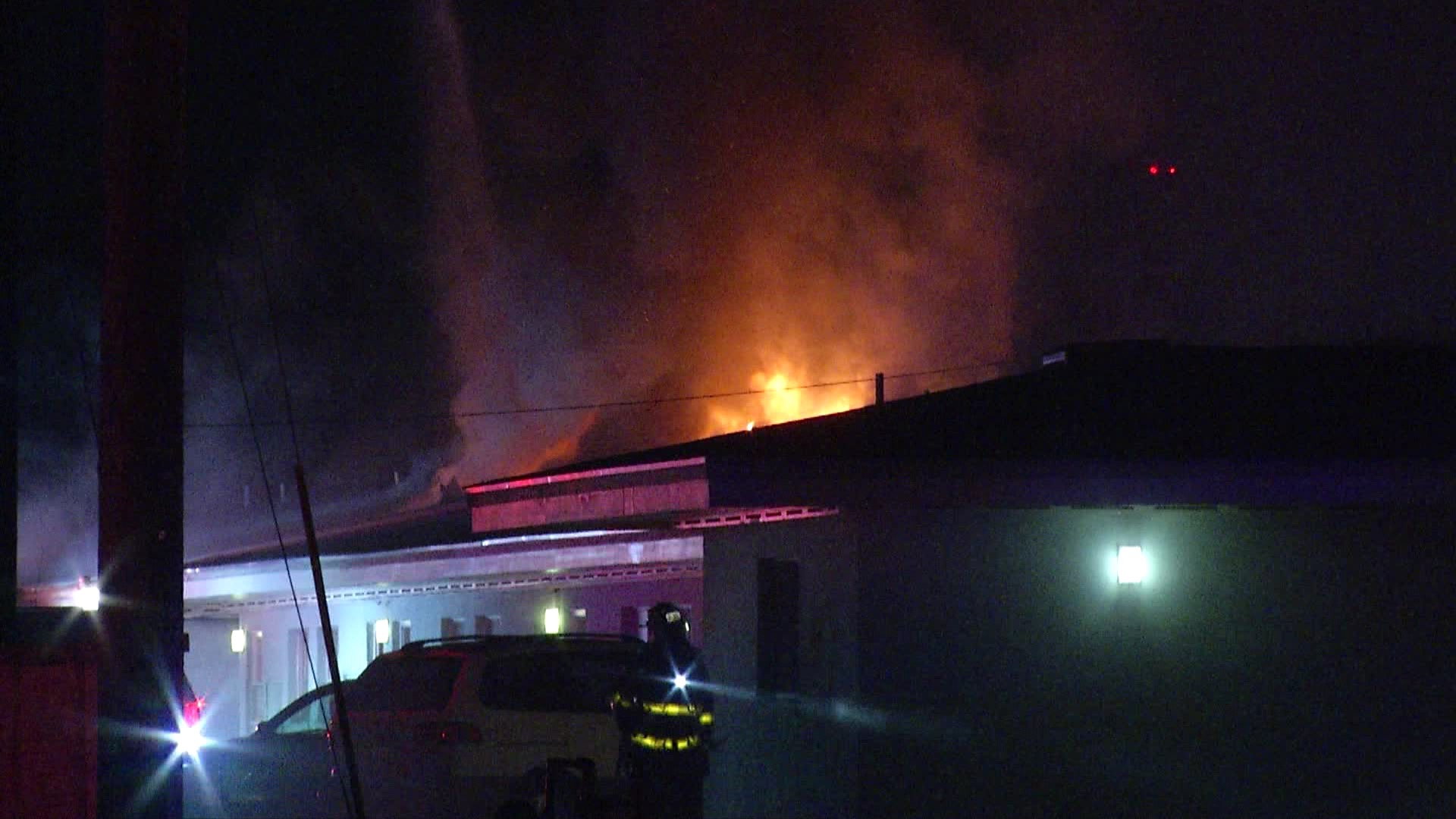 Fire at motel displaces 25 families on city's North East Side