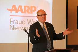 State Sen. Kevin Kelly was a featured speaker at a seminar on preventing financial elder abuse on July 10 at the Litchfield Inn.