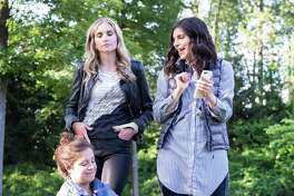 """Maria McConville (left) Wynter Kullman and Clare Parme in """"Cry It Out."""""""