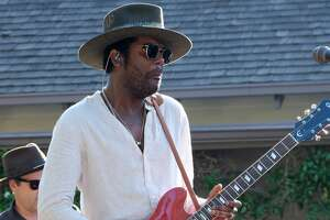 LOS ANGELES, CALIFORNIA: Gary Clark Jr. performs at Henson Studios on July 14, 2019 in Los Angeles, California. (Photo by Lester Cohen/Getty Images)