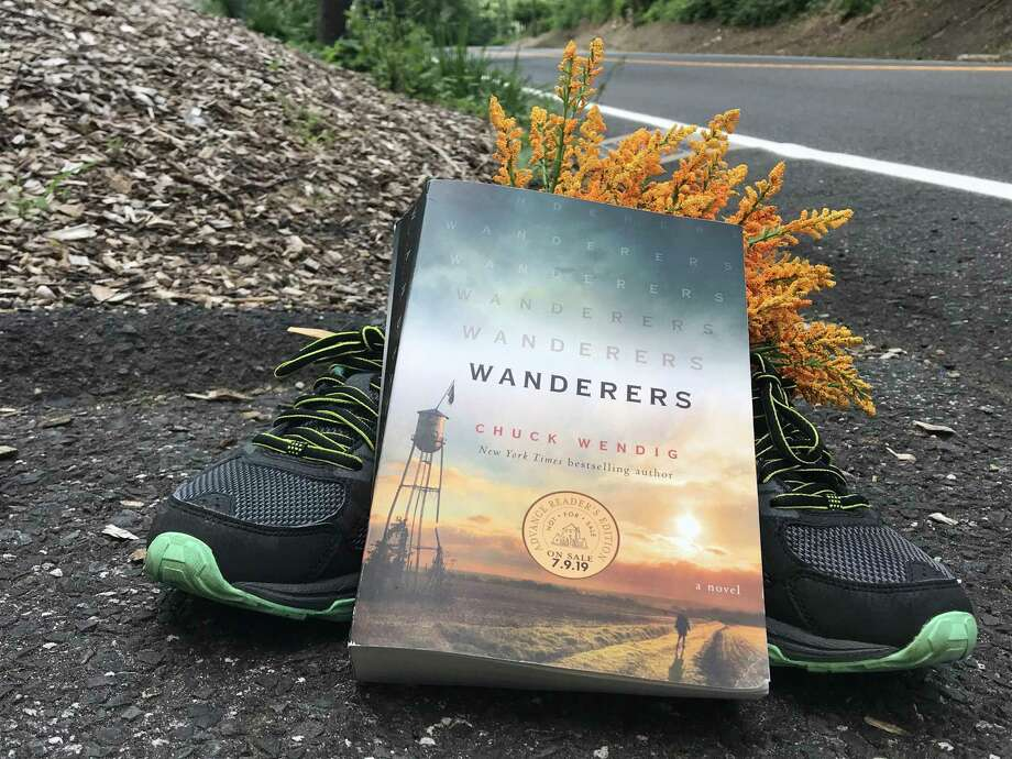 """Wanderers"" by Chuck Wendig is a captivating thriller. Photo: TinaMarie Craven/ Hearst Connecticut Media"