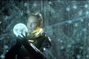 """Prometheus"" features a number of science-fiction concepts such as hyper sleep, artificial gravity and reproduction in space. This film image released by 20th Century Fox shows Michael Fassbender in a scene."