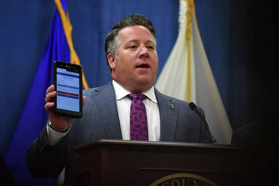 Albany County Executive Dan McCoy introduces a new pilot program to better provide suicide prevention resources to juvenile offenders on Tuesday morning, July 16, 2019, at the Albany County Office Building in Albany, N.Y.  (Will Waldron/Times Union) Photo: Will Waldron, Albany Times Union / 40047466A