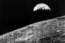 Earth Rise Viewed From The Moon, The First Photograph Of Earth Taken From The Vicinity Of The Moon, Captured By Lunar Orbiter 1, Aug, 23, 1966. (Photo By Encyclopaedia Britannica/UIG Via Getty Images)