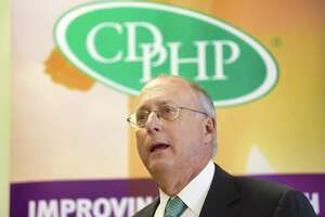 Doctor John Bennett, president and CEO of CDPHP, addresses those gathered for an event at Ellis Hospital on Tuesday, July 16, 2019, in Schenectady, N.Y. Ellis Hospital and CDPHP announced the creation of a  CDPHP Patient Care Team located at the hospital. The patient care team will coordinate care, answer questions, assist with medication management, and collaborate with Ellis Hospital staff on discharge planning for CDPHP inpatients.   (Paul Buckowski/Times Union)