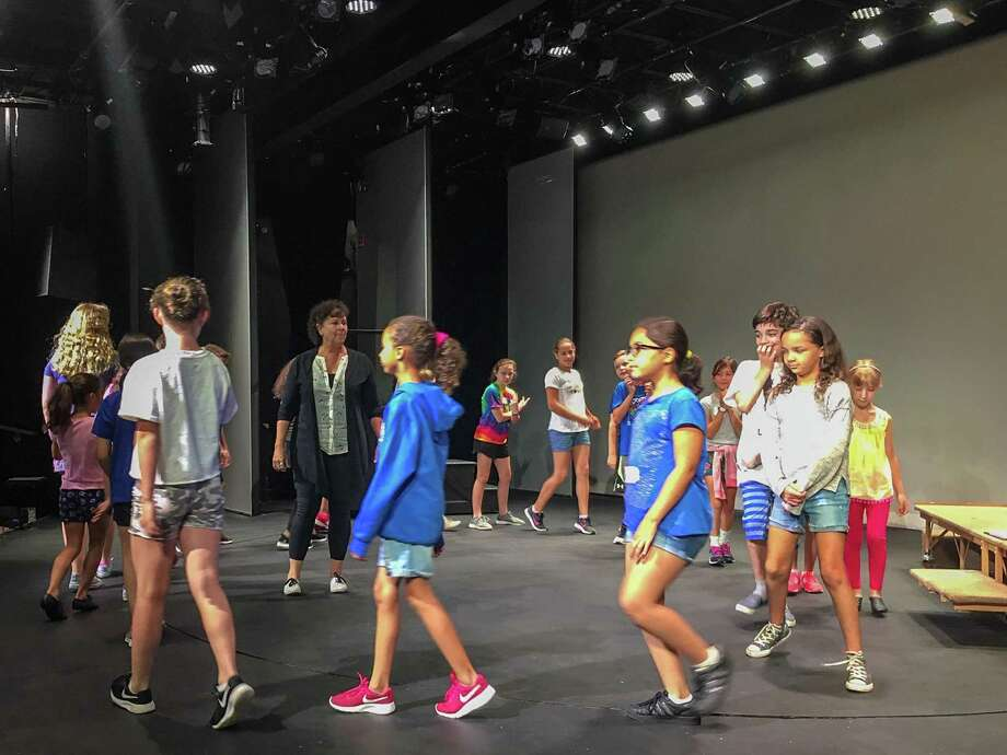 Ann Evans Watson, director of Giants in the Sky works with campers. Photo: ACT Of Connecticut Photo.