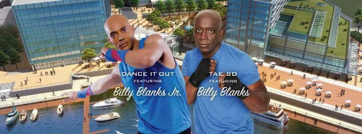 The father-son fitness duo Billy Blanks Jr., left, and Billy Blanks, will be presenting together for the first time in more than 20 years during Expo 2019 in Stamford.