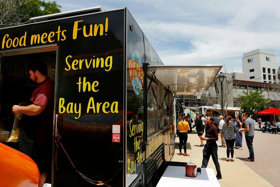 Food trucks at the Pleasant Hill/Contra Costa Centre on Thursday, June 27, 2019, in Walnut Creek, Calif. Photo: Santiago Mejia / The Chronicle
