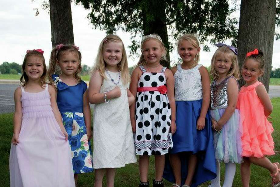 The Farmer's Summerfest princess candidates are (from left) Ruby Bowers, Charleigh Gotham, Kaylee Diebel, Willow Smith, Peyton Bruce, Shyann Kady, Ava Reibling. (Submitted Photo)
