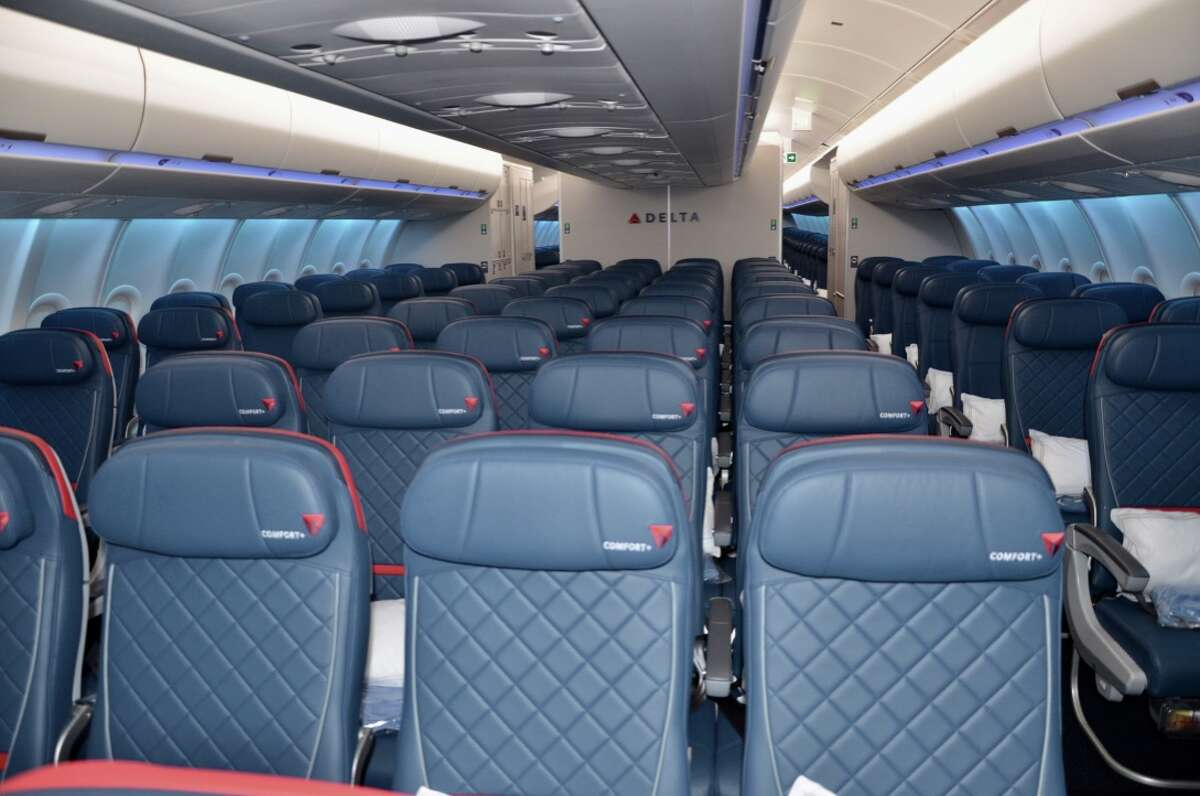 The Delta Comfort+ extra legroom economy cabin on the new Airbus A330neo has 56 seats arranged 2-4-2 abreast.