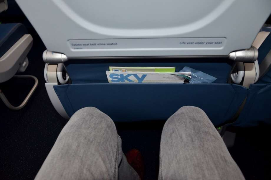 "In the economy class ""Main Cabin,"" Delta offers 31-33 inches of seat pitch- standard among most airlines Photo: Tim Jue"