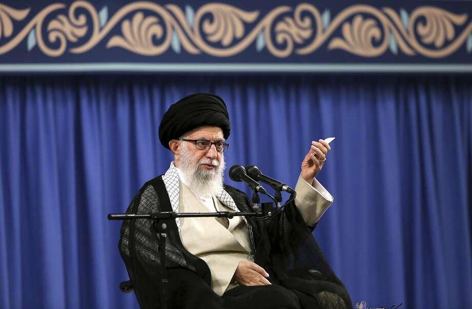 Ayatollah Ali Khamenei has threatened retaliation over the seizure of an Iranian supertanker. Photo: Office Of The Iranian Supreme Leader