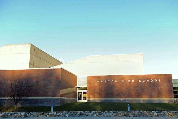 An exterior of Weston High School in Weston, Conn. shot Wednesday, Jan. 18, 2012.