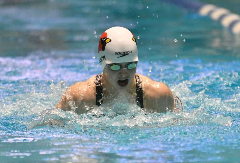 Meghan Lynch, a rising Greenwich High School junior, earned All-American accolades in numerous events. Photo: Staff File Photo /Hearst Connecticut Media