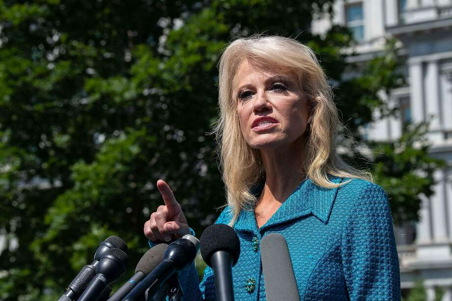 Kellyanne Conway asks reporter's ethnicity as she defends Trump's racist remarks