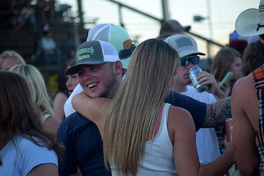 Scenes from Jordan Davis and Chase Rice playing the Morgan County Fair Saturday. Photo: Marco Cartolano | Journal-Courier