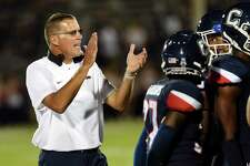 UConn coach Randy Edsall, shown in an Aug. 20 game against UCF, is concentrating on preparing his team for the upcoming season rather than worrying about UConn's exit from the AAC.
