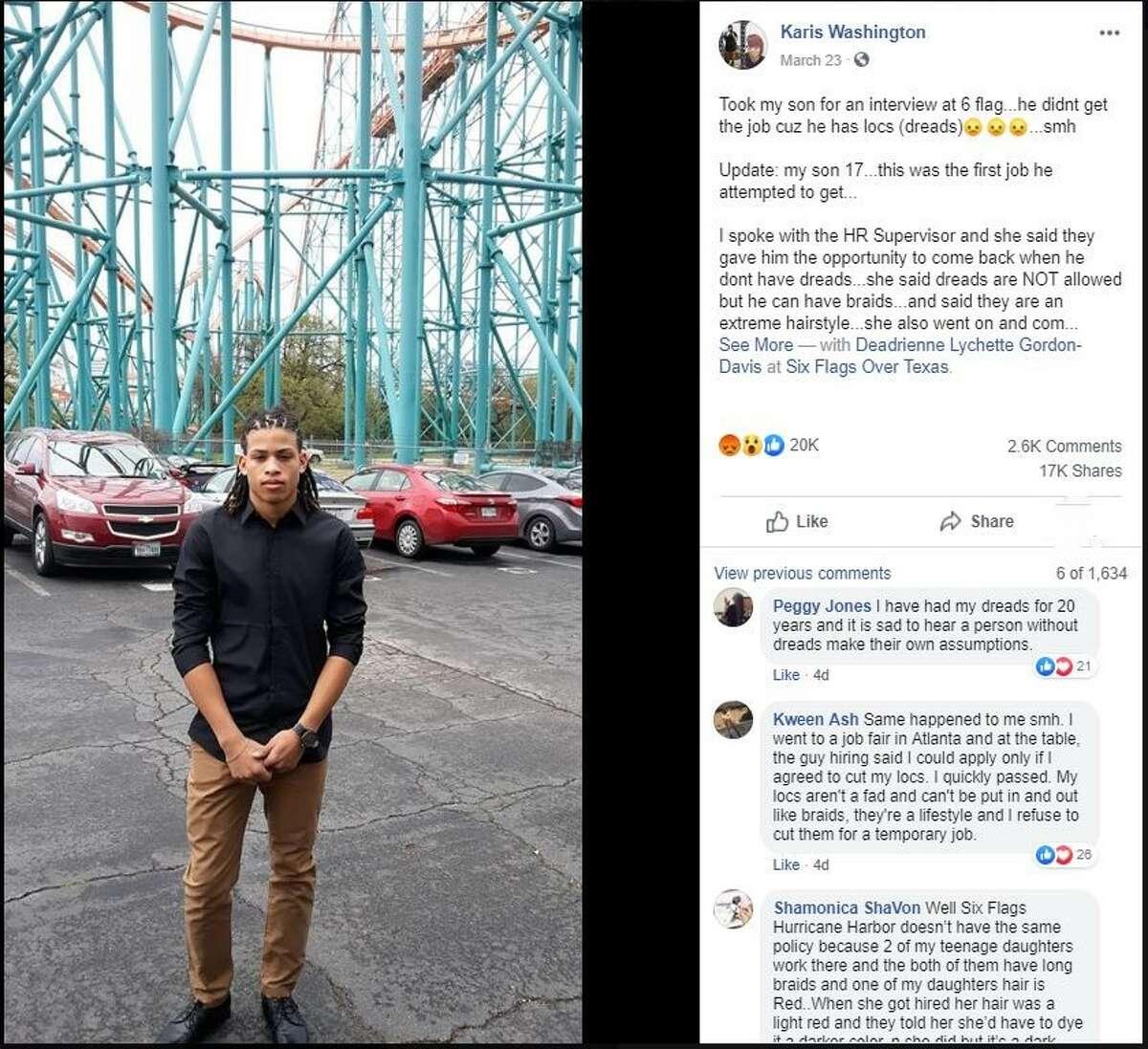 Karis Washington took to social media to vent her frustration.
