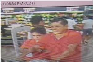 Laredo police said they need to locate the man pushing the shopping cart. He is wanted for questioning in a criminal mischief case.