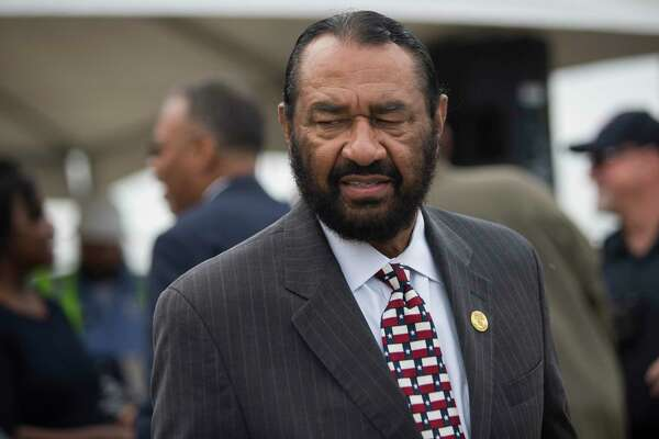 U.S. Rep. Al Green, D-Houston, following a presser celebrating progress on the Sugar Land 95 Memorial Project, in Sugar Land, Monday, June 17, 2019. Gov. Abbott signed a bill that would allow Fort Bend County to operate and maintain the cemetery where 95 African American remains were found last year.