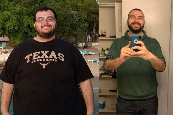 Amer Ismail lost 200 pounds after he ate 18 hot dogs in one sitting.