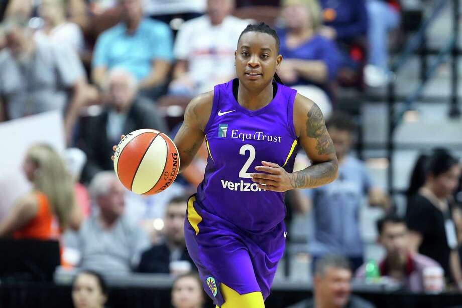UNCASVILLE, CT - AUGUST 19: Los Angeles Sparks guard Riquna Williams (2) dribbles the ball up court during a WNBA game between Los Angeles Sparks and Connecticut Sun on August 19, 2018, at Mohegan Sun Arena in Uncasville, CT. Connecticut won 89-86. (Photo by M. Anthony Nesmith/Icon Sportswire via Getty Images) Photo: Icon Sportswire / ©Icon Sportswire (A Division of XML Team Solutions) All Rights Reserved