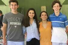 The Knights of Columbus, the Rev. Thomas F. Bennett Council No. 14318 in Washington Depot has awarded the Rev. Thomas F. Bennett Memorial Scholarships to four parish members who are entering college this fall. Recipients are, from left to right, Jack Schneider, Elaina daFonte, Sofia Mancinone and Tiernan Crossley.