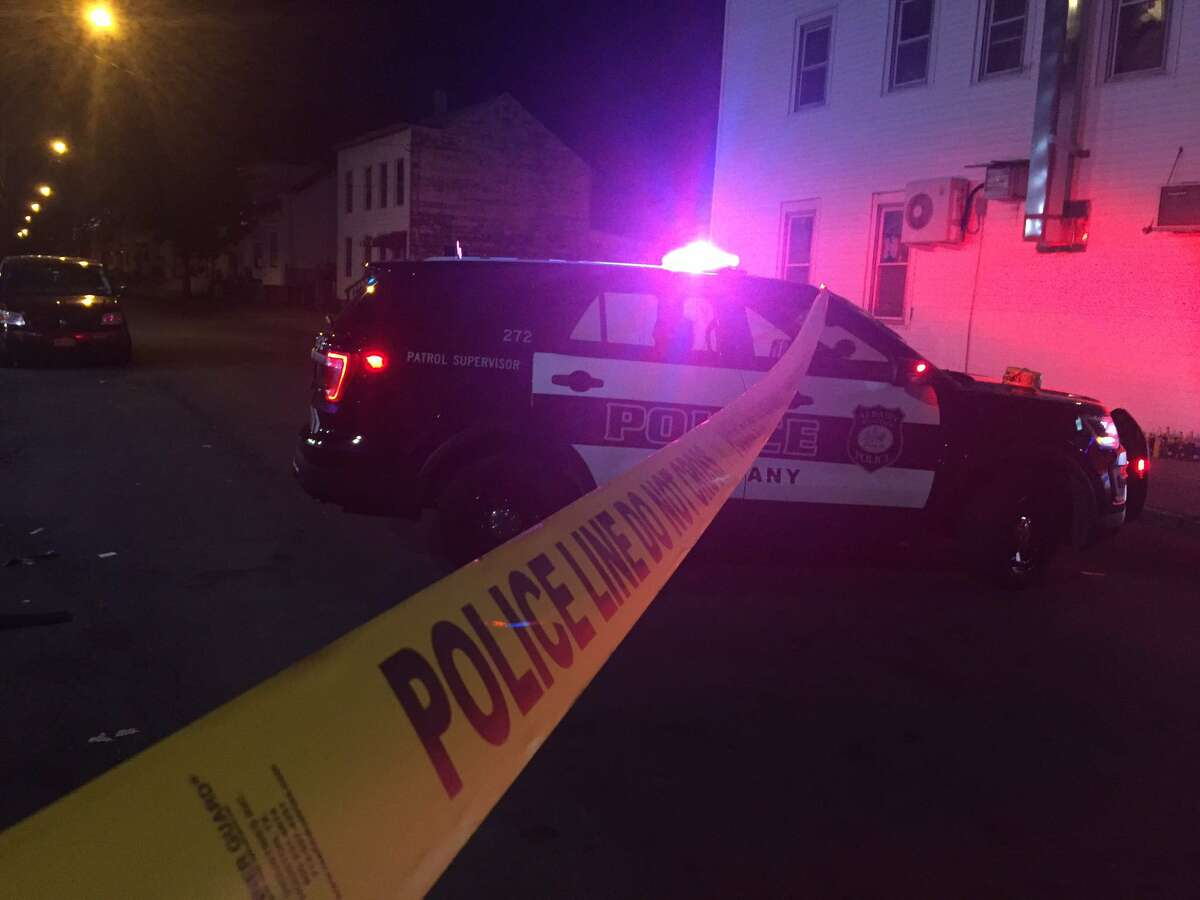 Albany police investigate a shooting that injured a 27-year-old man on July 15, 2019, at the intersection of First and Quail streets.