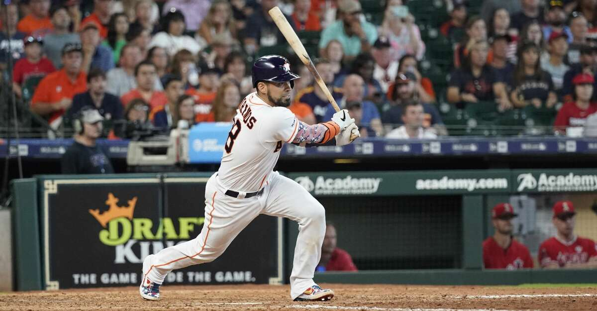 PHOTOS: Astros game-by-game Houston Astros' Robinson Chirinos bats against the Los Angeles Angels during the eighth inning of a baseball game Sunday, July 7, 2019, in Houston. (AP Photo/David J. Phillip) Browse through the photos to see how the Astros have fared in each game this season.