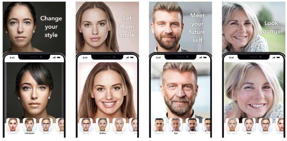 FaceApp lets you edit a person's face. Photo: FaceApp