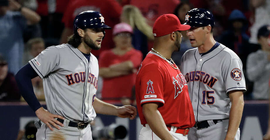 Things get testy as Astros fall to Angels