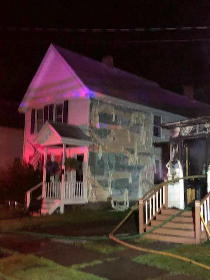 A fire on the porch at 23 First St., Gloversville, caused extensive damage to the first floor, but fire officials said they were able to thwart the spread of the flames. Photo: Gloversville Fire Department
