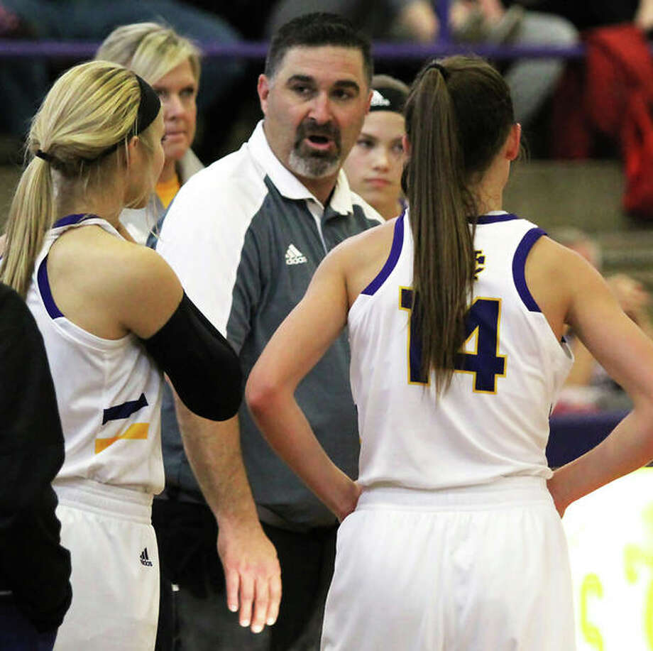 CM coach Jonathan Denney is the 2018-19 Telegraph Large-Schools Girls Basketball Coach of the Year. The Eagles' 29-6 season pushed Denney's career record to 286-118 in 13 years at CM. Photo: Greg Shashack / The Telegraph