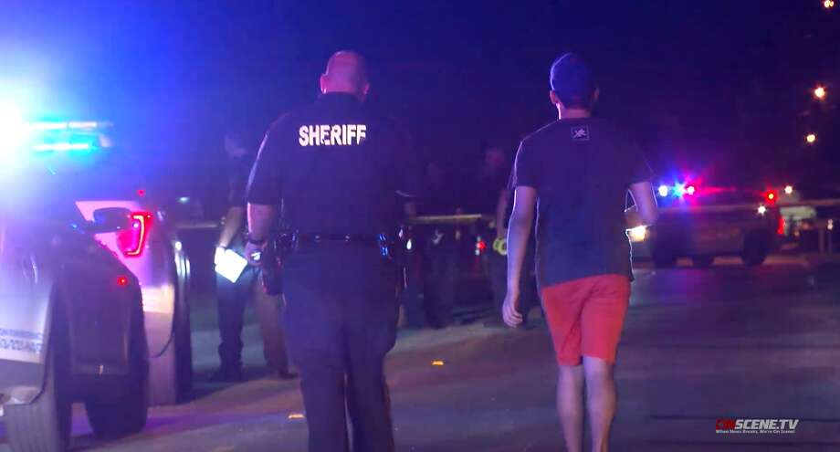 Deputies investigate a shooting that left two men dead about a mile and a half away from eachother in Channelview on Wednesday, July 17. Photo: OnScene TV