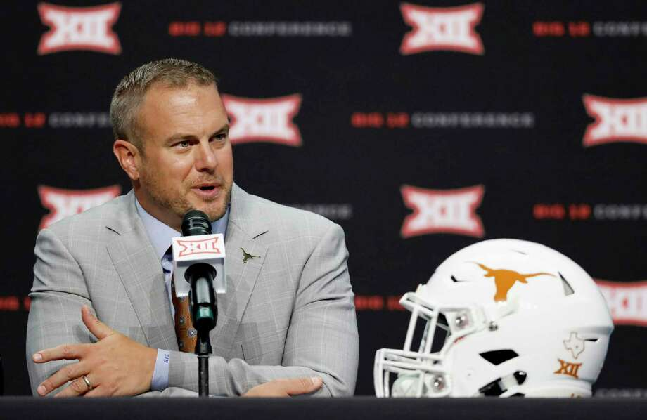 Texas head coach Tom Herman speaks during Big 12 Conference NCAA college football media day Tuesday, July 16, 2019, at AT&T Stadium in Arlington, Texas. (AP Photo/David Kent) Photo: David Kent, FRE / Associated Press / Copyright 2019 The Associated Press. All rights reserved.
