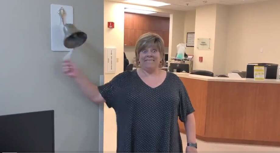 Houston-area woman excited about ending cancer treatment breaks the celebration bell